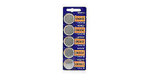 Sony CR2032 Lithium 3V Battery - 5 Pack (IL/PL2-15221-CR2032-NIB)