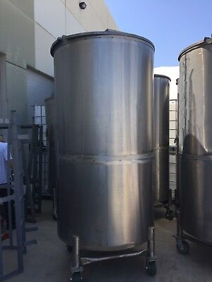 Stainless Steel Single Wall estimated 500 Gallons Holding Tank