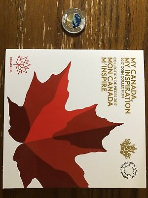 2017 Canada 150 $2 Glow In The Dark Toonie  + 1 Canada 150 Coin Collector Card