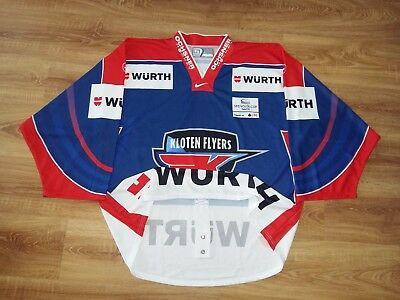 Kloten Flyers Spengler Cup Davos game issued (fight strap) Hockey jersey size XL