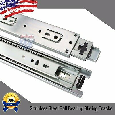 "10"" - 24"" Heavy Duty Soft Close 3-Section Ball Bearing Sliding Rail 150 lbs LOT"