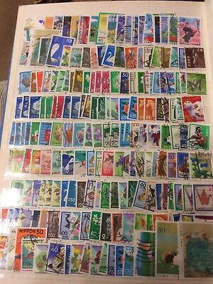 JAPAN Off Paper Selection Of Stamps