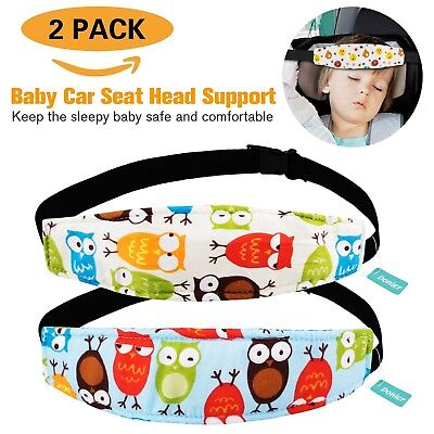 2 Packs Toddler Car Seat Neck Relief and Head Support Pillow Support Head Ban...