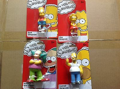 The Simpsons Mini Collectible Figures - Lisa, Bart, Homer and Krusty the Clown