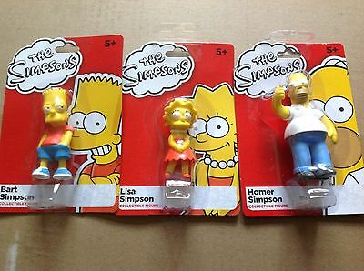 The Simpsons Mini Collectible Figures - Lisa, Bart and Homer Simpson