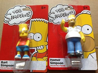 The Simpsons Mini Collectible Figures - Bart and Homer Simpson