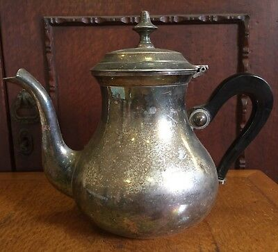 Vintage Silver Plated Teapot with Bakelite Handle