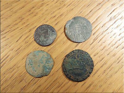 4 x Tokens Jettons Detector Finds as Found Uncleaned