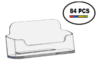 Clear Acrylic Business Card Holder Displays Deflecto Style Wholesale Lot of 84