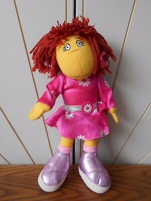 DISCO DANCING FIZZ character soft toy/doll THE TWEENIES Hasbro 2000 pink glitter