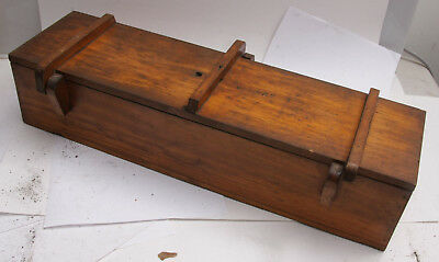 """Lamson Goodnow Wood Casting Mold Pattern 20"""" Box w/Lid Stamped LG&Co 256 257 M11"""