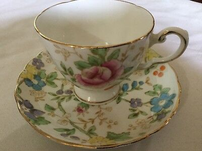 Tuscan  Bone China Cup And Saucer England   Plant