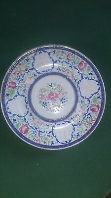 Beautiful Antique  Floral And Nightingale Famille Rose 6