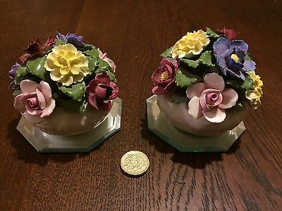 Pair Of Aynsley China Posey/Flower Bowls
