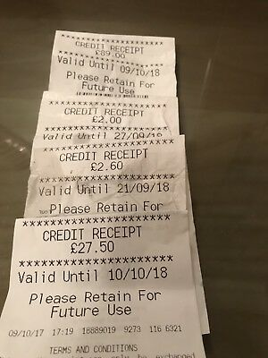 M&S Marks And Spencer's credit Note / Receipt / Voucher Totalling £121.10