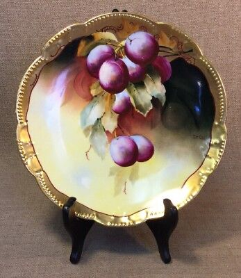 Pickard China Antique Hand Painted Artist Signed Poppies Cabinet Plate