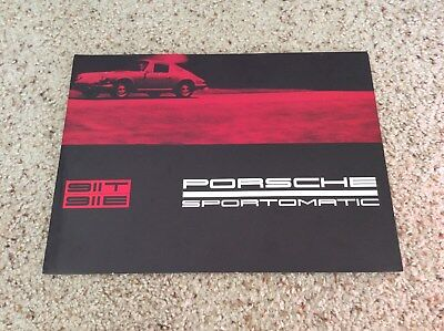 1968 Porsche  sportomatic  original dealership showroom sales handout