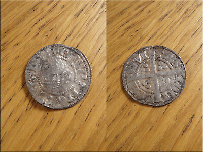 Edward Penny Class 3cd London Mint Silver Hammered Medieval Coin Detector Find