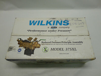 "Wilkins 375XL 3/4"" Reduced Pressure Principle Assb. Lead Free Backflow Prevented"