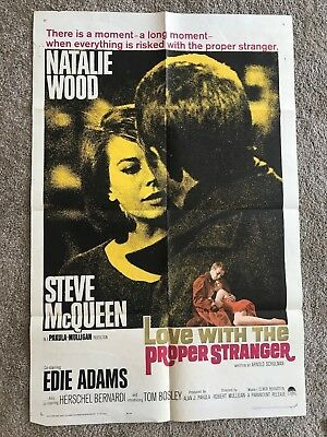 Love with the Proper Stranger original vintage 27x41 one sheet movie poster.