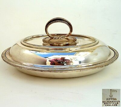 Silver Lidded Entree Dish With Detachable Handle Ny Walker & Hall