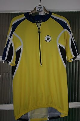 Castelli Mens Vintage S/S Cycling Jersey Size XXL Yellow Navy Blue