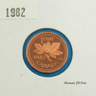 1982  Canada 1 Cent Proof Ultra Heavy Cameo  From Set