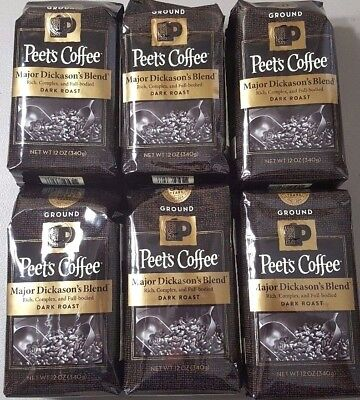 6 Bags! - Peet's Coffee: Major Dickason's Blend - 4.5 POUNDS!