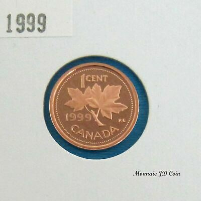 1999  Canada 1 Cent Proof Ultra Heavy Cameo  From Set