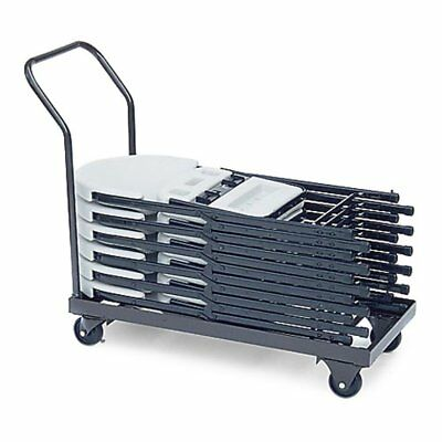 Correll Flat Stack Chair Cart, Steel, Full Size