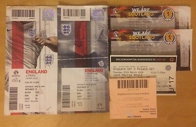 Selection Of England Ticket Stubs 2008-2014
