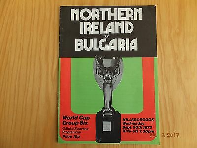 Northern Ireland v Bulgaria @ Sheffield Wednesday - WC Qualifier - 26th Sep 1973