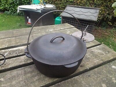 old vintage cast cooking pot