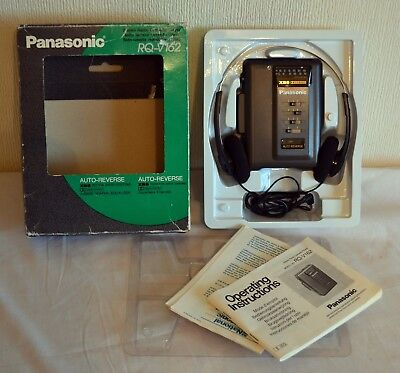 BOXED Panasonic Rq-v162 Personal Cassette Player with Headphones