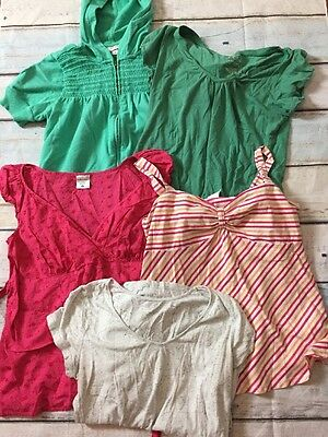 Lot of 5 Size Medium M Maternity Summer Spring Tops Shirts Tees Hoodie C26