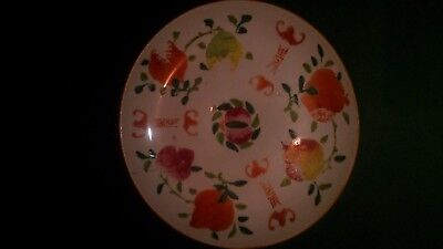 Antique Chinese Famille Verte plate Lucky Bats.