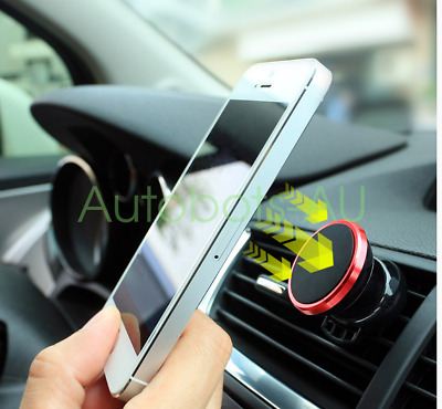 RED Rotatable Car GPS Phone Magnetic Universal Holder Air Vent Mount 360 Degree