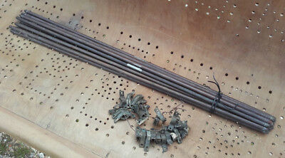 """13 No. Antique Brass Stair Rods - with bullet type rounded end - 28.5"""" length"""