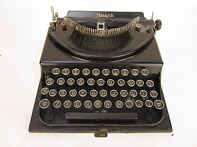 Vintage Monarch Portable Typewriter with Case