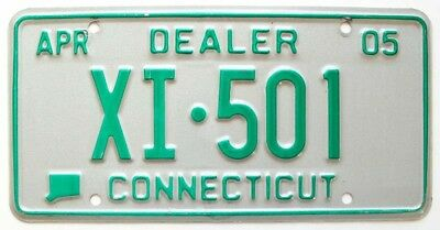 Connecticut 2005 NEW CAR DEALER License Plate, XI-501, High Quality