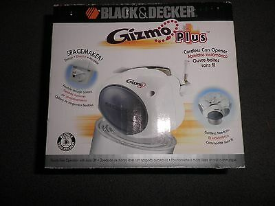 NEW IN BOX~Black & Decker GC200 Gizmo Can Opener, White~Great New Kitchen Tool!