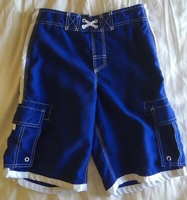 Pre-owned Boys Swim trunks suit Shorts Kids size L G 12-14