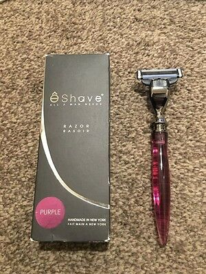 EShave Three Blade Gun Metal Razor Purple-RRP £54