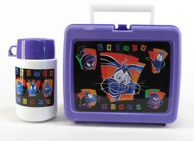 Vintage 1998 Looney Tunes Plastic Lunchbox Warner Bros With Thermos!