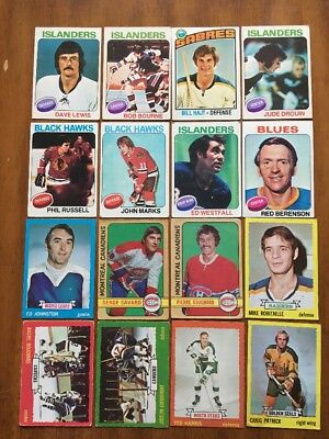 Lot Of 16 Vintage 1970's NHL Cards  - Various Years
