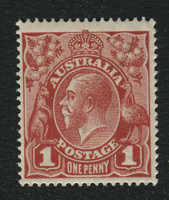 KGV 1d G24½ ORANGE-RED SINGLE INVERTED WMK* MUH WITH DRURY CERTIFICATE