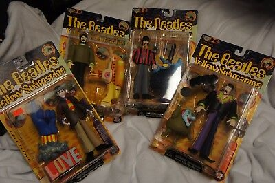 Lot Of 4 1999 McFarlane Toys The Beatles Yellow Submarine Action Figures