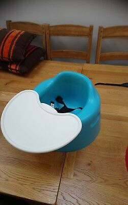 BUMBO SEAT WITH TRAY blue with straps