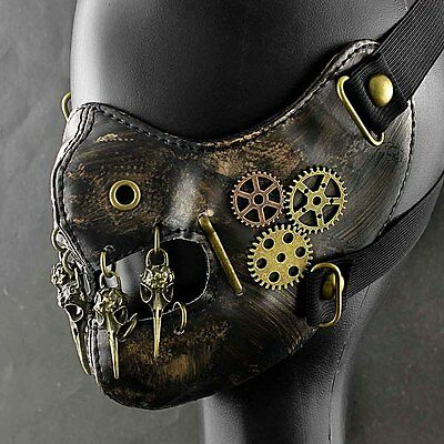 SteamPunk Vintage Gears Mask Masquerade Costume Mens Womens
