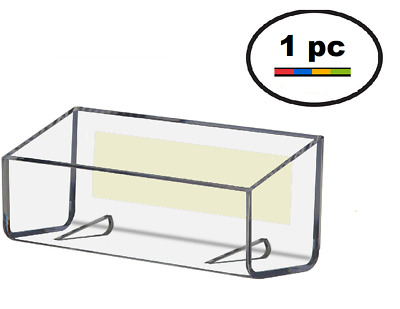 One Clear Acrylic Plastic, Peel & Stick Wall Mount Business Card Holder Display